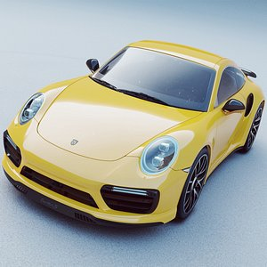 3D Porsche 911 Turbo S model