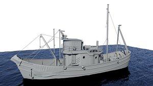 3D fishingboat model