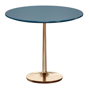 Nero 36 Blue Lacquer Dining Table with Brass Base 3D model