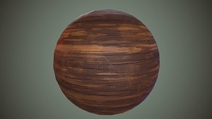 Cartoon wood texture game ready Texture model