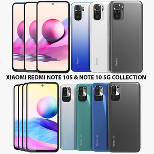 3D Xiaomi Redmi Note 10S and Note 10 5G Collection model