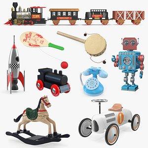 retro toys 4 3D model