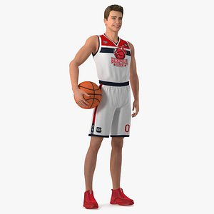 teenage boy basketball ball 3D model