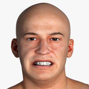 real pbr marcus human head 3D