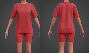 shirt shorts model