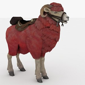 Red Goat Rigged 3D model