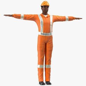 skin black rescuer t 3D
