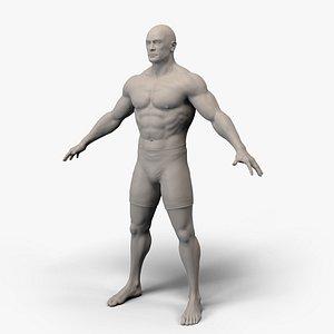 Male Basemesh Muscular 3D