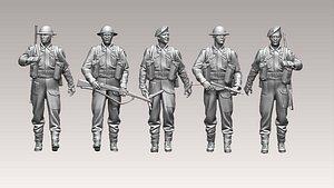 british soldiers model
