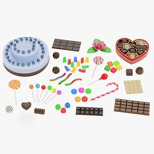 3D Candies Collection Large
