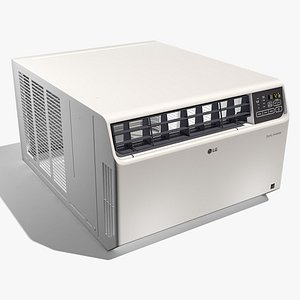 lg window air conditioner 3D model