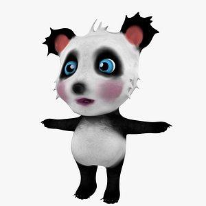 3D cute bear panda
