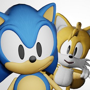 3D model SONIC AND TAILS 3D MODEL
