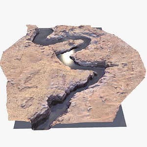 3D model canyon landscape