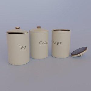 3D coffee sugar pot