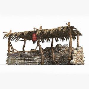 ancient wool tea 3D model