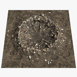 crater debris 3D