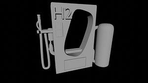 3D model h2 station
