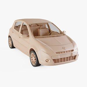 3D 2010 Renault Clio 5-Door model