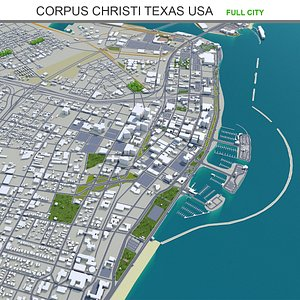 3D model Corpus Christi Texas USA