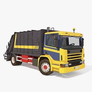 3D Garbage Truck model