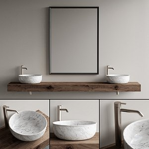 3D vanity bathroom mirror model