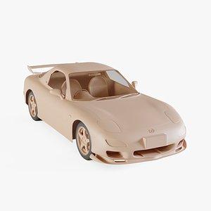 3D 1999 Mazda RX-7 model
