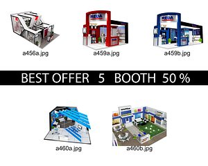 3D Booth Exhibition Stand c10