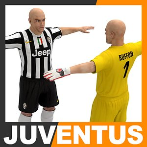 3d football player - juventus