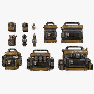 tool kits bag canister 3D model