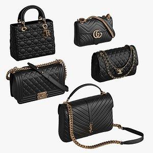3D model Women Bag Collection 5