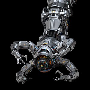 3D Assembly robot 2 RIGGED model