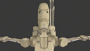 3D b1 battle droid pack model