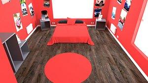 child bedroom Interior 2 3D