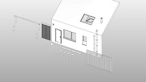 House Parts - Full Parametric Revit Families model