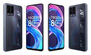 Realme 8 Pro Black 3D