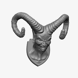 3D Demon Head Mount