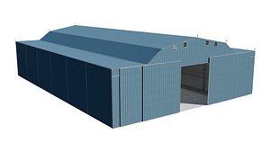 hangar airport 3D model