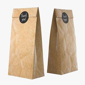 Craft paper bag 3D model