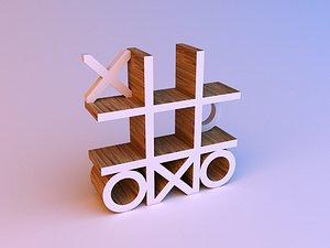 3D Tic tac toe Cupboard Shelves model
