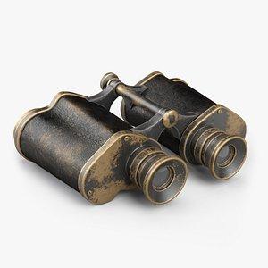 3D Antique Navy Binoculars