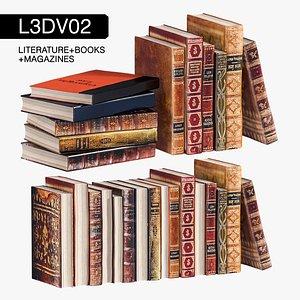 3D books - model