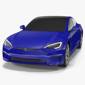 3D Tesla Model S Plaid Exterior Only
