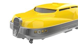 The Fifth Element Taxi Car 3D model