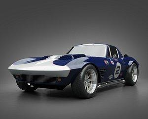 3D 1964 GrandSport Corvette