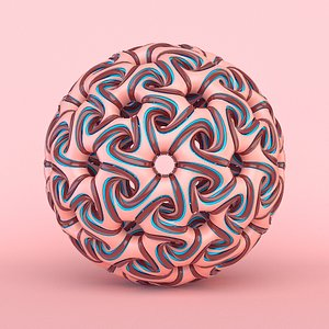 3D model abstract sphere
