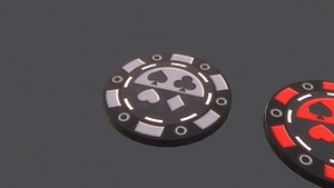 3D poker chip pbr