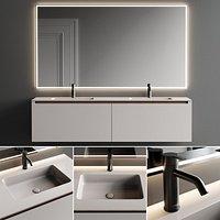 Inbani Strato H Vanity Unit Set 1