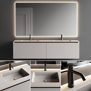 3D Inbani Strato H Vanity Unit Set 1