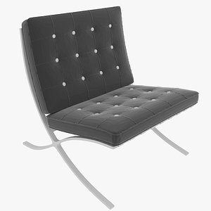 3D model barca style chair
